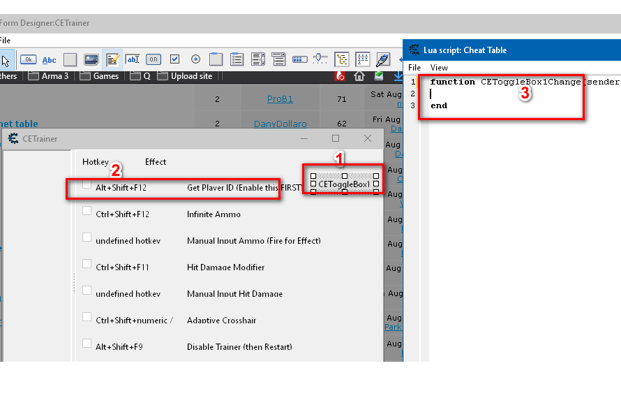 Cheat Engine :: View topic - HELP CE default trainer Toggle