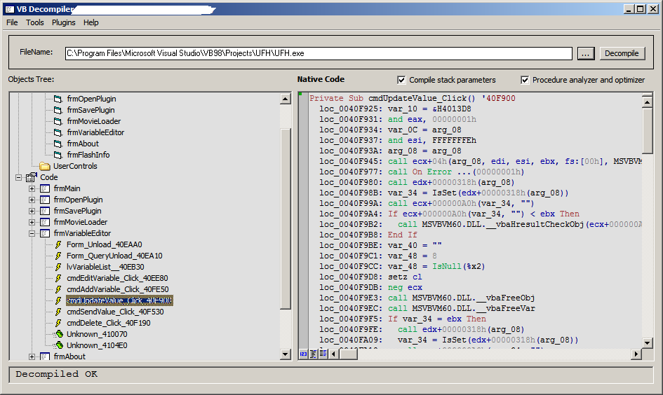 Cheat Engine :: View topic - VB Decompiler Help!