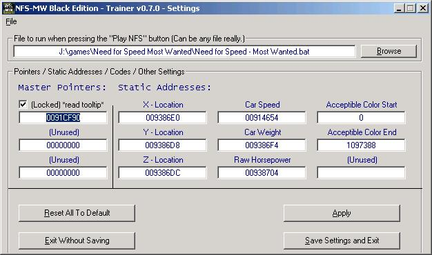 Cheat Engine :: View topic - Need For Speed - Most Wanted