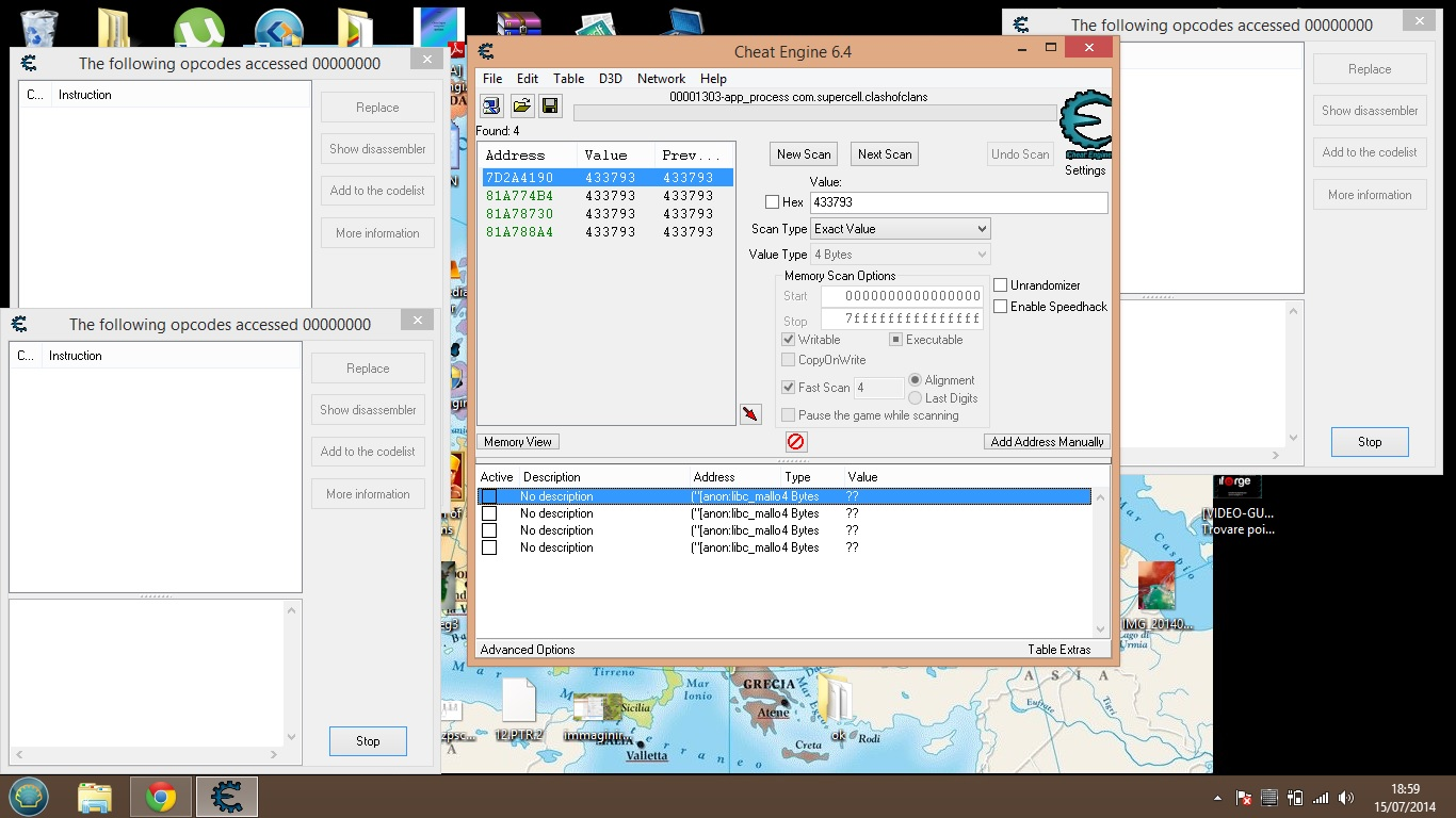 cheat engine physical memory