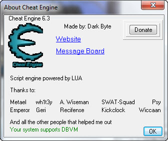 Cheat Engine 6.3