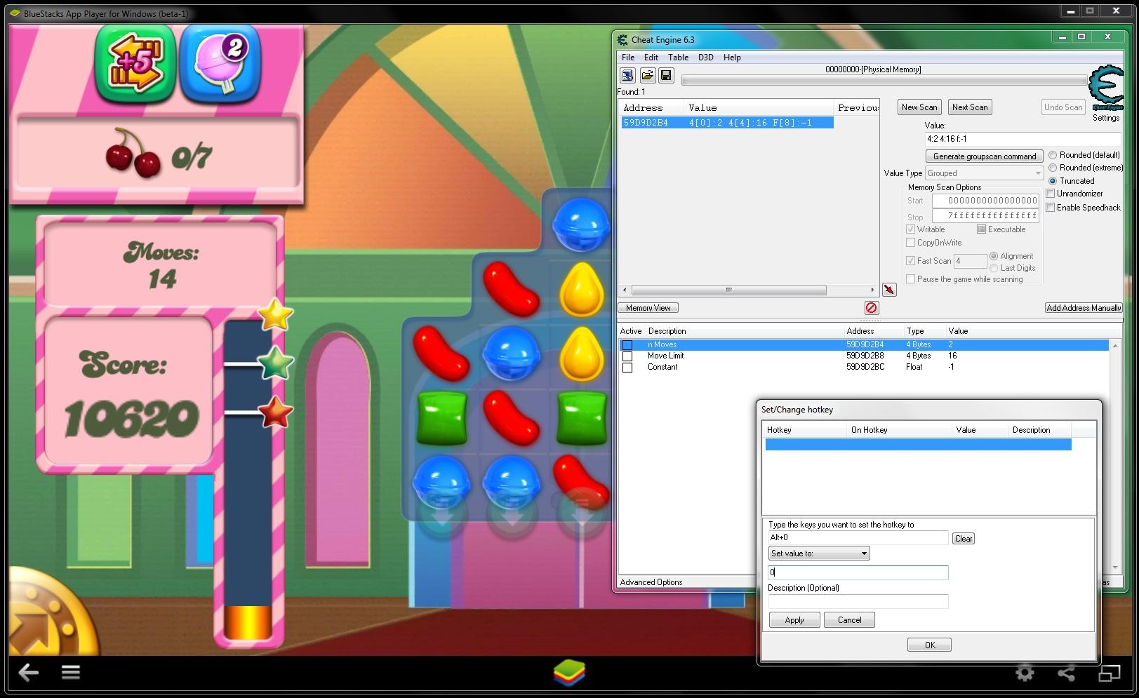 Cheat Engine :: View topic - Memory address for BlueStacks running